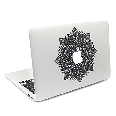 Easy Gift Arabic Mandala Leaves Removable Vinyl Macbookdecal Sticker Decals Skin with Precision-cut for Apple Macbook Airmacbook Pro Mac Laptop 13 15