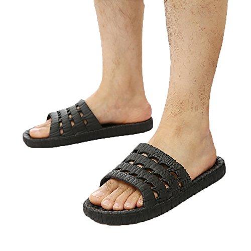 WSNH888 Pantofole Da Bagno Antisdrucciolo Pantofole Da Uomo E Da Donna Infradito Con Sandali Alla Moda,Black,42