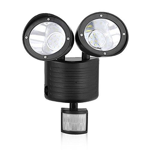 Led Solar Strahler, Dual Head 22 Led Solar Highlight Bewegungssensor Licht Outdoor Security Garten Hof Lampe Veranda Wandhalterung Flutlicht (Solar Dual-head)