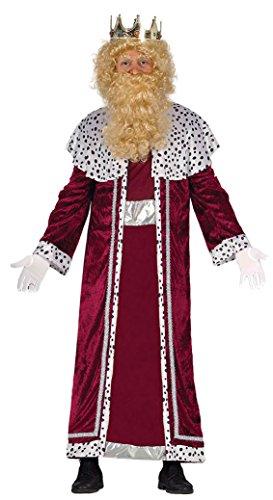 Imagen de guirca  disfraz rey mago gaspar adulto, talla l, color rojo 42401.0