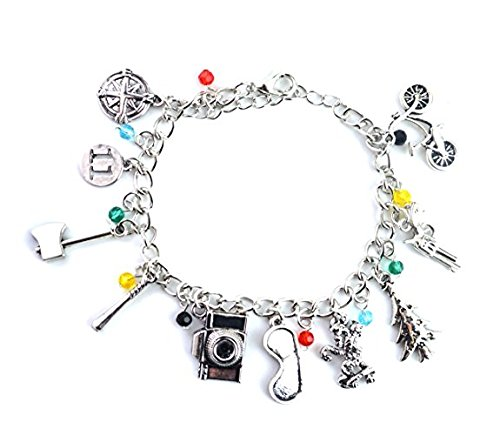 8645f17f9 jewellery gift charms. Silver Tone Stranger Things Charm Bracelet With  Eleven, Christmas Tree, Axe, Upside Down