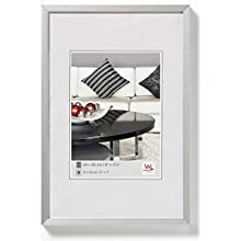 Walther design AJ030S Chair, aluminum frame 8x11.75 inch (20x30 cm), silver