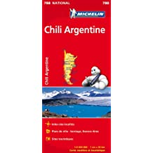 Carte Chili Argentine Michelin
