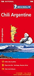 Carte NATIONAL Chili Argentine Michelin
