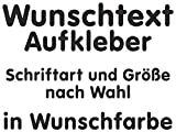 Samunshi® Aufkleber Autoaufkleber Name Wunschname Sticker Wunschtext Personalisierbar