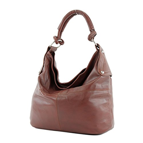 Borsa In Pelle Da Donna In Pelle Nappa Ds26 T61 Marrone Bordeaux