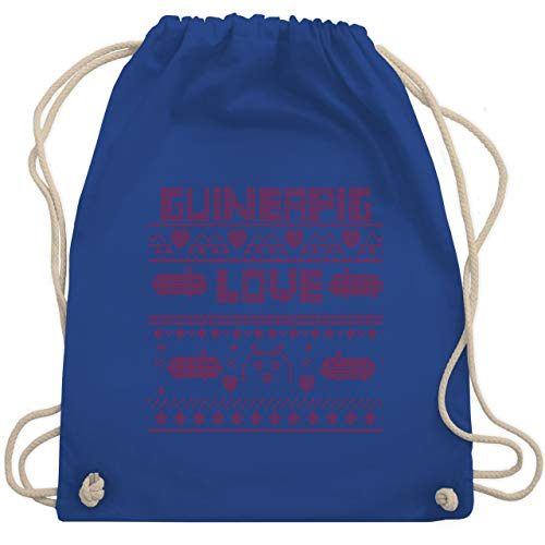 Weihnachten & Silvester - Guineapig Love Christmas - Unisize - Royalblau - WM110 - Turnbeutel & Gym Bag
