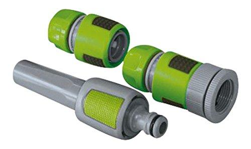 Xclou Gartenschlauch Set - Schlauchverbinder aus Kunststoff Bewässerungssets, Grau, 1 x 0,13 x 1 cm