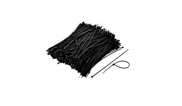 sourcingmap Serre-c/âbles R/éseau C/âble autobloquant Nylon attache fil noir Bracelet Cordon 150 x 3mm 1000pcs