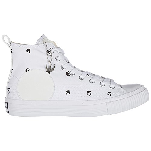 MCQ Alexander McQueen Chaussures Baskets Sneakers Hautes Homme Micro Plimsoll SW