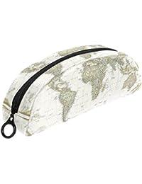 COOSUN - Estuche para bolígrafos de papelería, diseño de mapa del mundo político