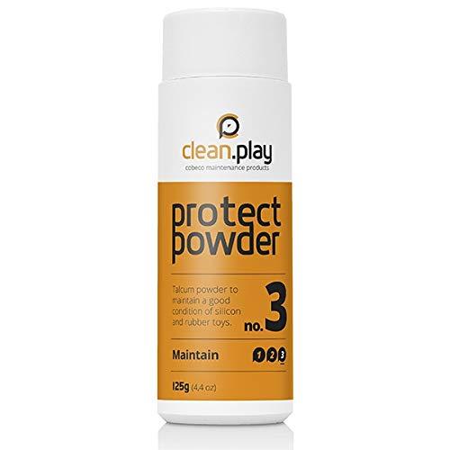 Cobeco CleanPlay - protect powder 125 g Talcum Pflege-puder für Sexpuppe-n und Sex-spielzeug Pflegeprodukt
