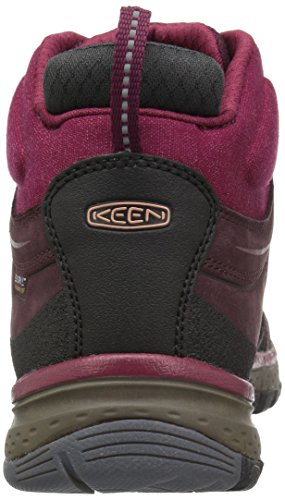KEEN Terradora Leather Mid WP W Chaussures de randonnée wine/rhododendron