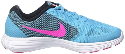 Nike Mädchen Revolution 3 Gs Trainingsschuhe Blau (Gamma Blue/Pink Blast-Blck-Wht)