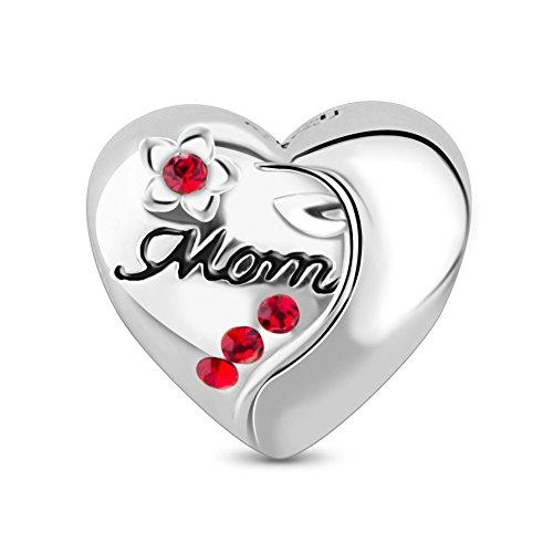 Tinysand bead charm in argento 925, ciondolo con parola