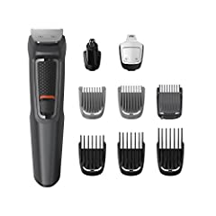 Idea Regalo - Philips MG3757 Groming Kit Serie 3000 Rifinitore 9 in 1 Barba, Baffi e Capelli
