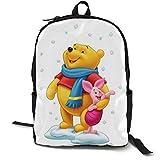 Winnie The Pooh Zaino per Laptop 15'' Zaino Casual Adatto per Affari, Viaggi, Scuola, Signore, Uomo