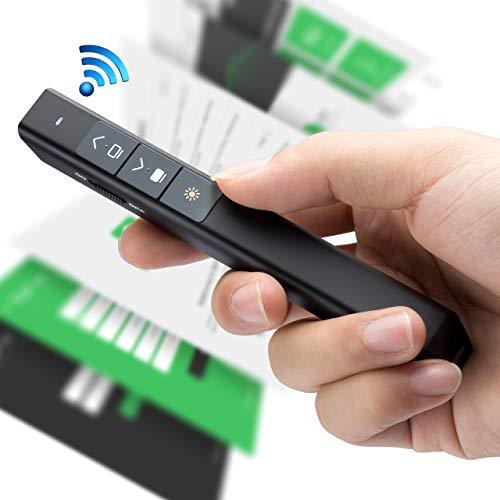 VicTsing Puntero Láser Presentaciones Inalámbrico USB(<1mW), Presentador de Diapositivas Magnético Remoto RF,Mando presentaciones para PPT,Keynote,Prezi,Windows XP/7/8, Linux,Android, Pila AAA