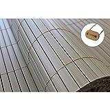 Sichtschutz Windschutz PVC (1,0m x 4m, natural-bamboo)
