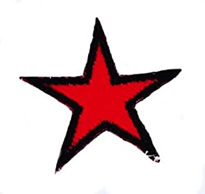 Patch etoile che guevara thermocollant ecusson brodé rouge cuba star red
