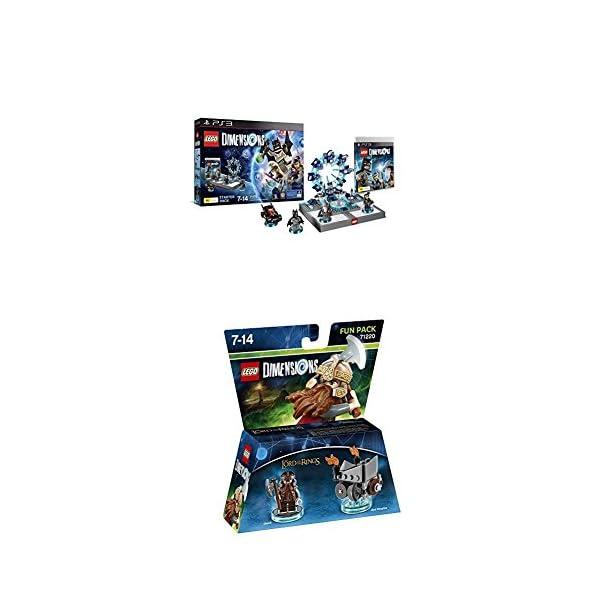 LEGO - Starter Pack Dimensions (PS3) + LEGO Dimensions - El Señor De Los Anillos, Gimli 1