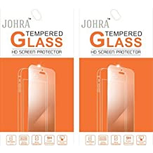 Johra Pack of 2 9H HD+ Real Tempered Glass Screen Scratch Guard Protector for Samsung Galaxy A3 (2016)
