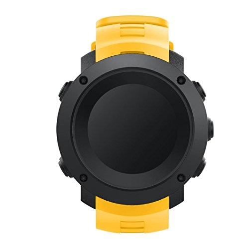 Pulsera, happytop silicona reloj banda correa de muñeca de repuesto para Suunto Ambit 3vertical, hombre, amarillo, S