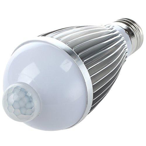 SODIAL(R) E27 LED Nachtlicht Lampe Bewegungsmelder Sensor Weiss 6W