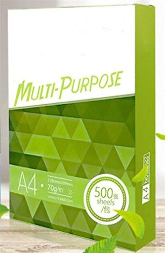 1 Paket von 500 Blatt Büro Wert Kopierer Papier Multifunktional Ream-Wrapped A4 70gsm Weiß Durch Znyo