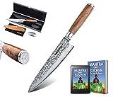 adelmayer® -Profi Damastmesser 20cm extrem scharfe Klinge aus japanischem...