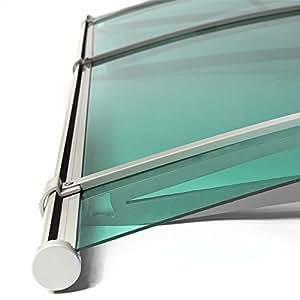 Auvent en polycarbonate vert transparent 190 cm