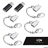 Adaptador Micro USB a USB C (4X Compactos con Llavero + 2X Normales) - Permite Cargado y Transferencia de Datos - Simplemente Conecta tu Cable Micro USB de Carga/Datos en el Adaptador USB C