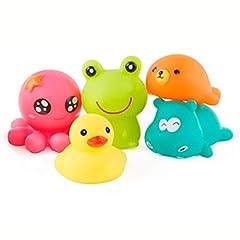 Idea Regalo - Set di giocattoli per il bagnetto Set di giochi per il bagno per acqua spray per piscina per bambini Giocattoli da bagno galleggianti (5pcs)
