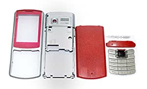 TOTTA Replacement Full Body Housing Back, Body Panel For Samsung Metro S3310 - Red