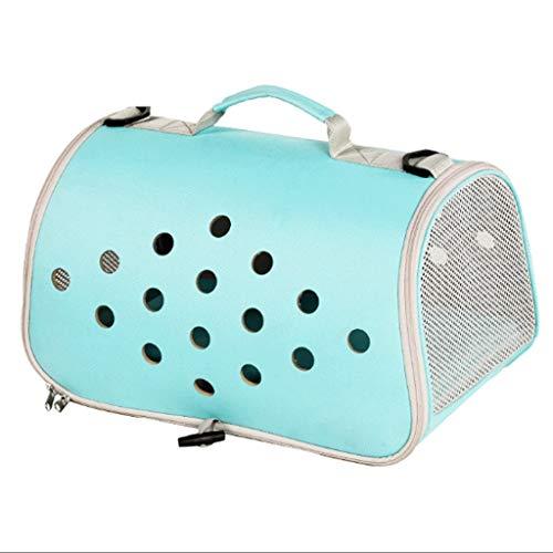 Pet Bag Portable Laptop Umhängetasche Hund Katze Tasche aus dem Käfig (Farbe : Light green, größe : M)