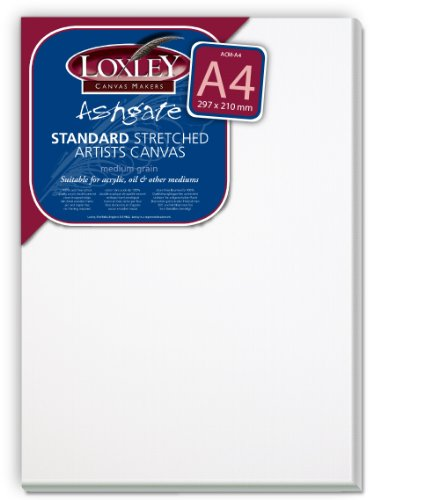 Loxley Ashgate - Lienzo sobre Bastidor (Fondo de 18 mm, tamaño A4), Color Blanco
