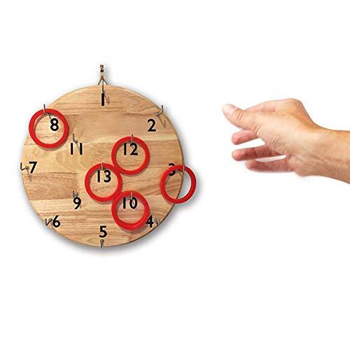 Hook.s An der Wand befestigtes Gummiholzspiel-Würfel-Puzzlespiel-Ringwurf-Spiel - Zahlen Addieren Ganzen Von Subtrahieren Und
