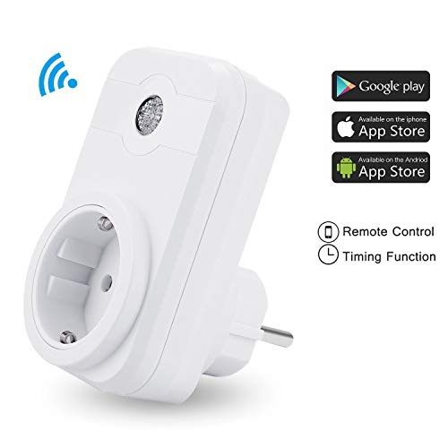 Notens WiFi enchufe WiFi Smart hembra WiFi inalámbrico WiFi Conector Outlet temporizador hembra mando a distancia per Smartphone o Amazon Alexa Google Home …