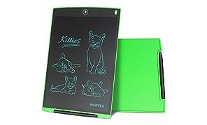 NEWYES NYWT120 Tavoletta LCD da Disegno con Stilo, 12 Pollici di Lenghezza, Vari Colori(Verde)