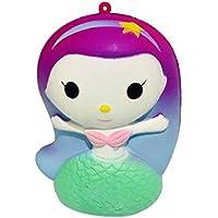 Anboor Squishies Sirena La compressione lenta aumenta i giocattoli Squishies profumati dello zucchero di Kawaii Primo di rilievo di sforzo Raccolta del regalo (1 pz, 8 * 7 * 11 cm)