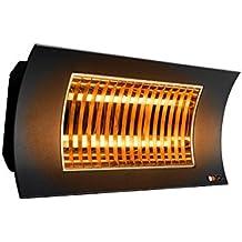 Farho Radiador Infrarrojos OASI Negro • Calefactor de Exteriores • Estufa de Infrarrojos para terrazas con