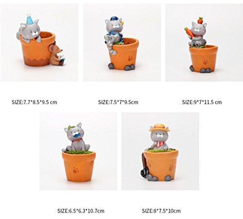 Blumentopf für Sukkulenten / Kreative Übertopf Topf DIY Fairy Garden / ZAKKA Stil Harz Handwerk (Es gibt 5 in einer (5 Von Gruppen Ideen Kostüm)