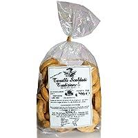 Taralli tradicional de Apulia con aceite de oliva|Producto horneado ideal como snack salado Producto artesanal típico de Apulia