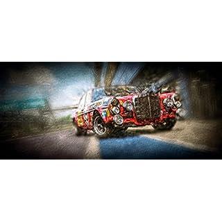 Kunst Druck AMG Mercedes Benz 300 SEL 6.3/6.8, Die Rote Sau Box Tapete Mousepad Acrylglas Alu-Dibond (160 x 70 cm, Tapete selbstklebend)