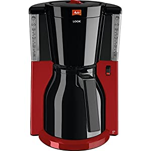 Melitta 101118 Look Therm Selection Kaffeemaschine Aromaselector Thermkanne, rot