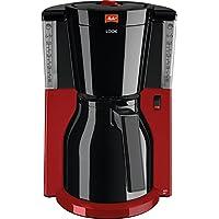 Melitta Look Therm 1011-18, Filterkaffeemaschine mit Thermkanne, AromaSelector, Rot/Schwarz