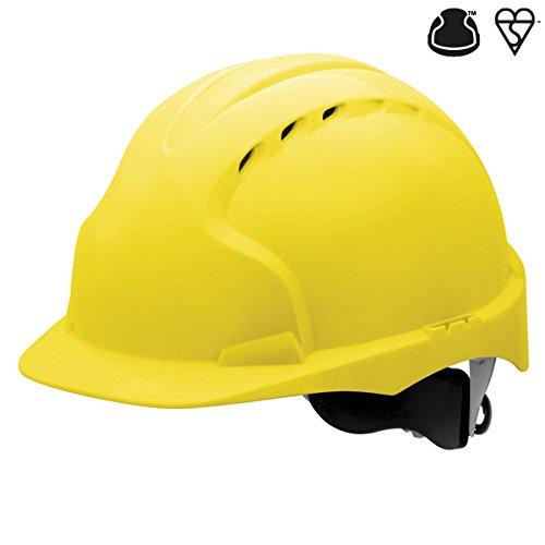 JSP AJF170–000–200EVO3casco Revolution ruota a cricco, ventilato, giallo