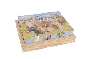 Eichhorn 100004936 - Puzzle de Cubos de Madera, diseño de Animales (Simba Dickie)