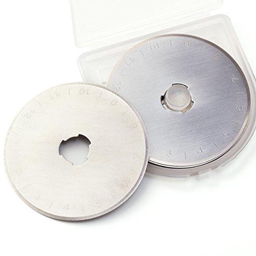 10 Stk 45mm Ersatzklingen Rundklingen für Rollschneider Stoffschneider Schneidmesser Stahl mit...