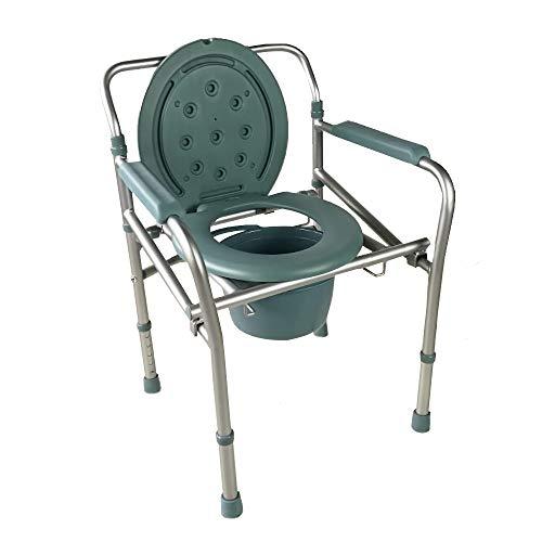 Silla con WC, Plegable, Aluminio, Reposabrazos, Altura regulable, Con tapa, Mar, Mobiclinic